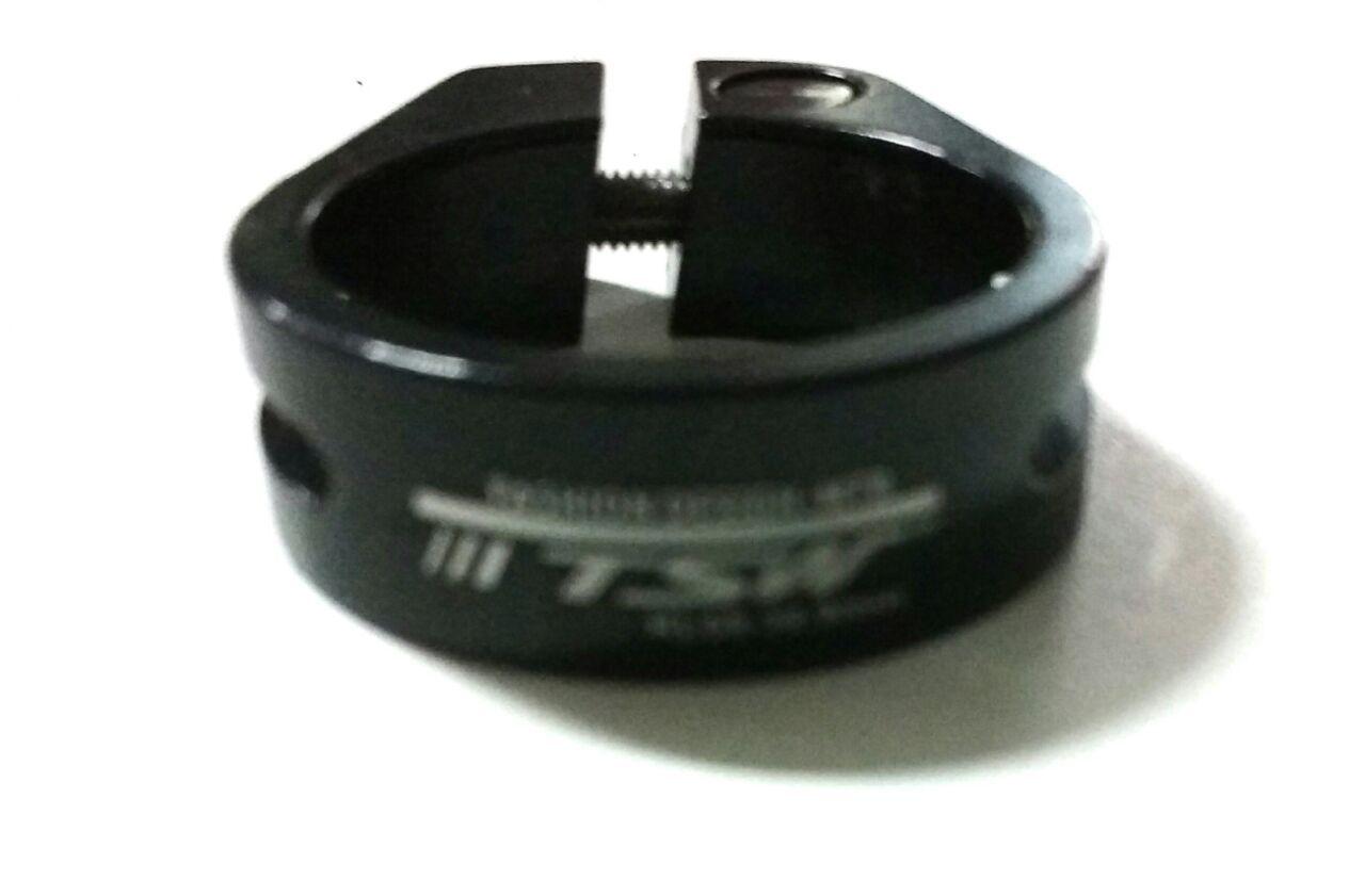 Abraçadeira De Selim Tsw 34.9mm MTB Vazada Preto Para Bike