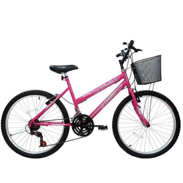 Bicicleta Cairu Aro 24 Bella Rosa 21 Velocidades