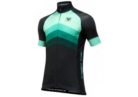 Camisa Ciclista Free Force Bend Preto/Verde