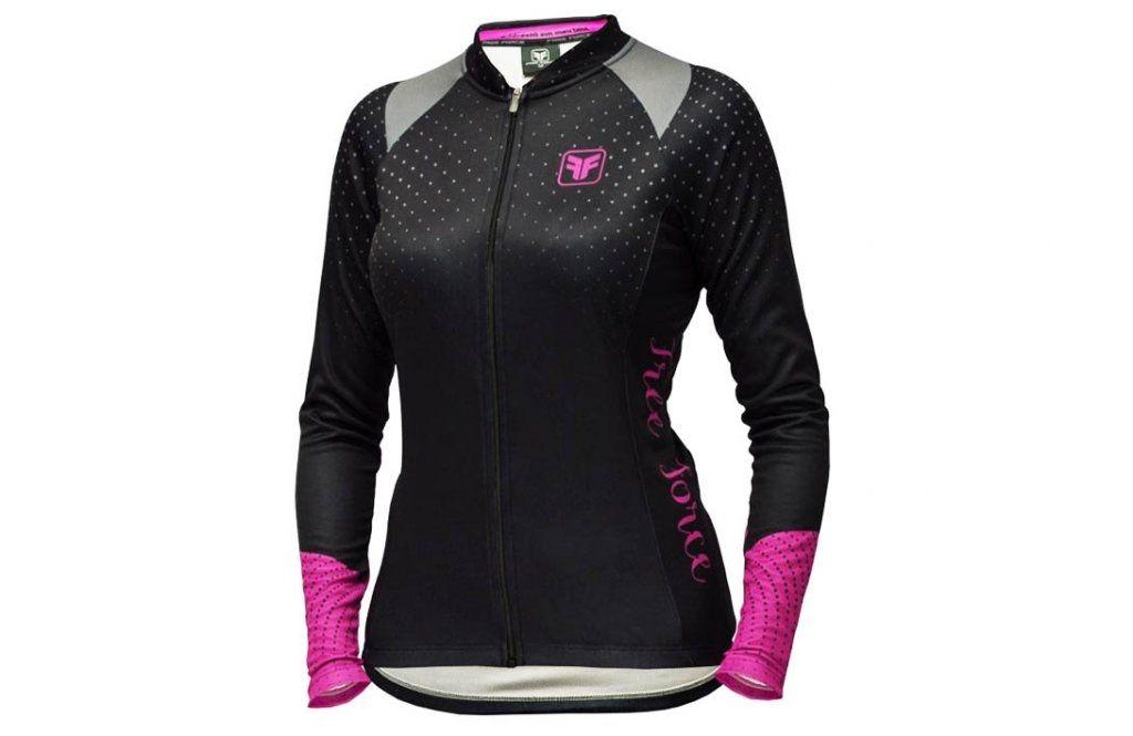 Camisa Ciclista Free Force Dots Victory Feminina