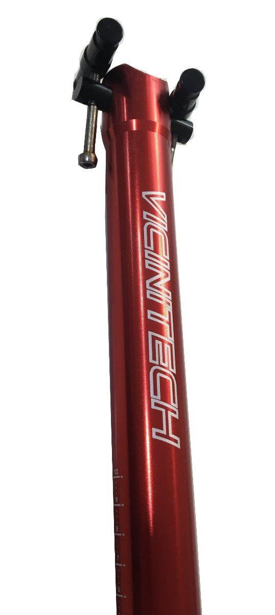 Canote Selim Vicinitech 31.6mm 400mm 285g Aluminio Vermelho