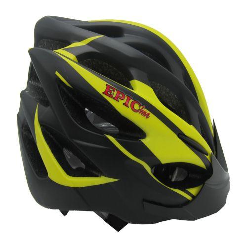 Capacete Epic Line Mv 50 Amarelo E Preto Para Bicicleta Tm P