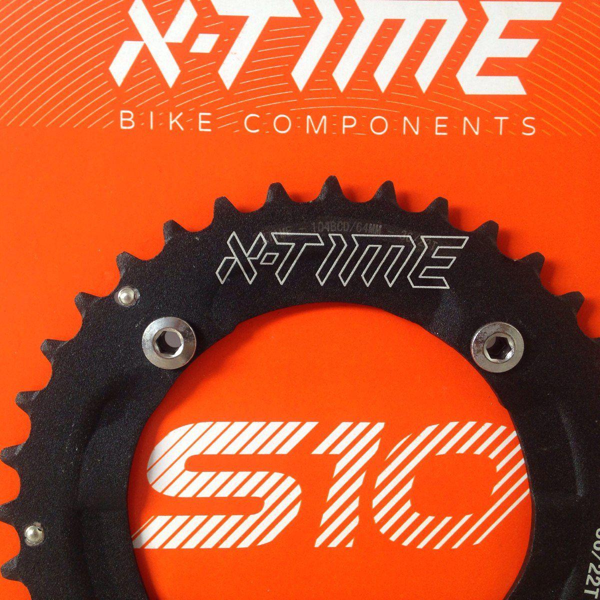 Coroa Tsw X-time 36 Dentes Bcd 104mm 2x10 Para Bike