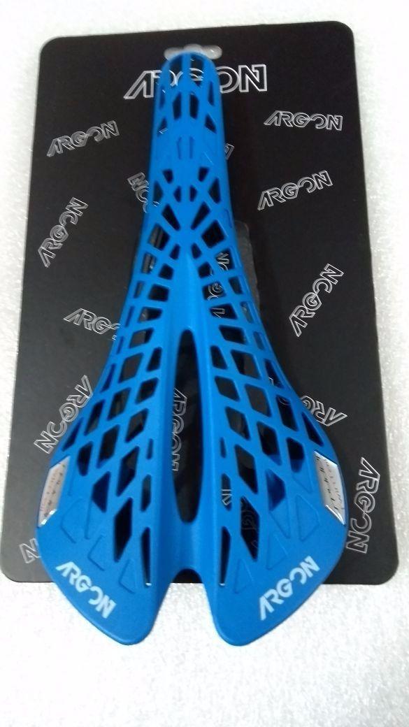 Selim Argon Spyder Twin Tail Mtb Speed Flexível Azul