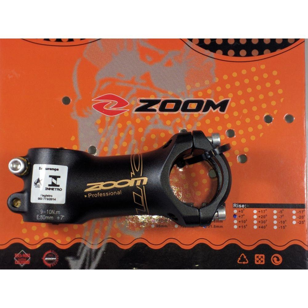 Suporte Guidão Mtb Zoom 31.8 90mm Para Bike