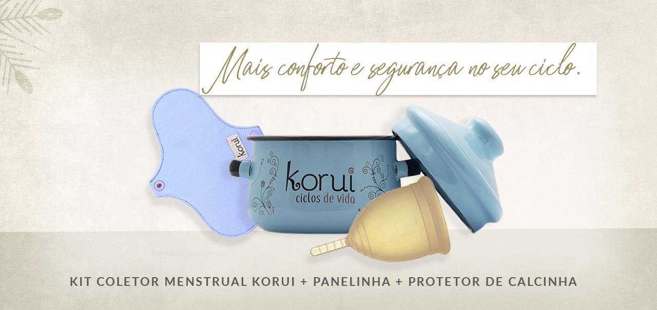 Kit Coletor Menstrual Korui