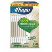 Hastes Flexíveis Ecológicas Affagio - embalagem econômica 150 unidades