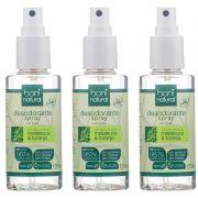 Kit 3 Desodorante Natural Melaleuca e Toranja Boni Natural