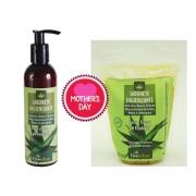Kit sabonete higienizante face, corpo e íntimo natural e refil livealoe