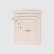 Kit Saco de Pano Reutilizável para Compras a Granel Agora Sou Eco - 4 unidades