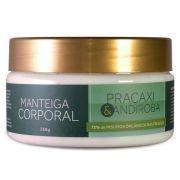 Manteiga Corporal Esfoliante Pracaxi e Andiroba Natural Orgânica Vegana Cativa Natureza - 250g