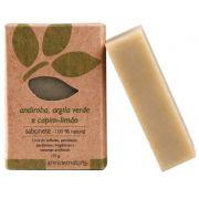 Sabonete Natural Artesanal Vegano Ares do Mato 115g - Andiroba, Argila verde e Capim limão