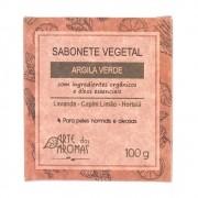 Sabonete Vegetal em Barra Argila Verde Arte dos Aromas - 100g