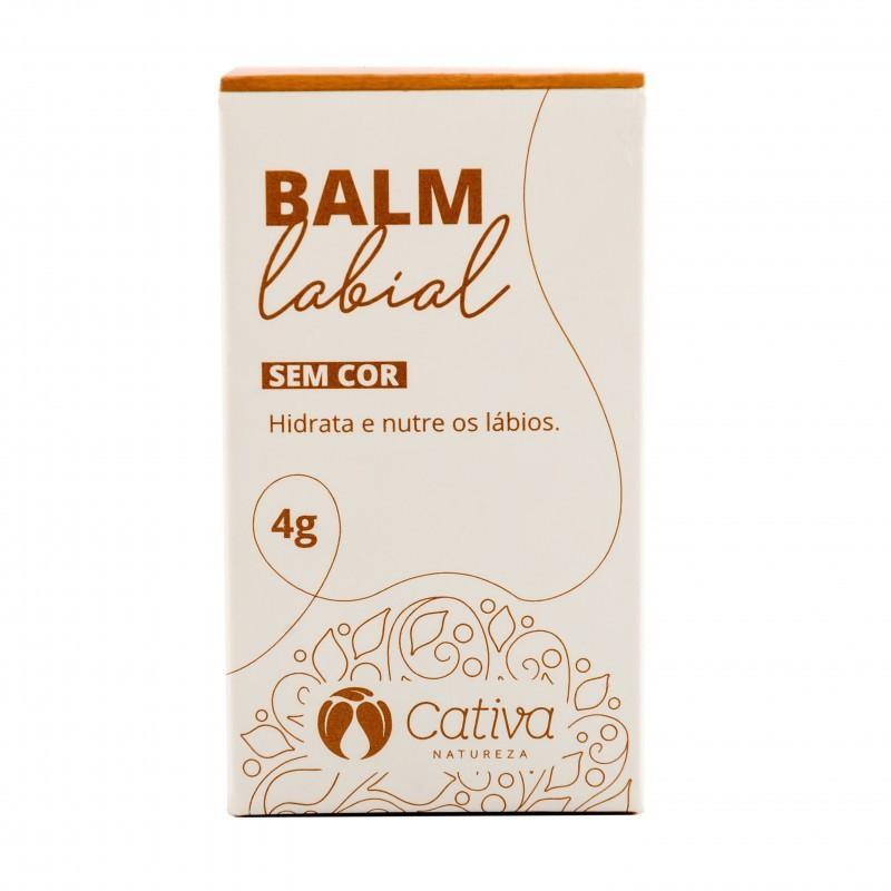 Balm Labial Natural Orgânico Vegano Cativa Natureza sem Cor - 4g