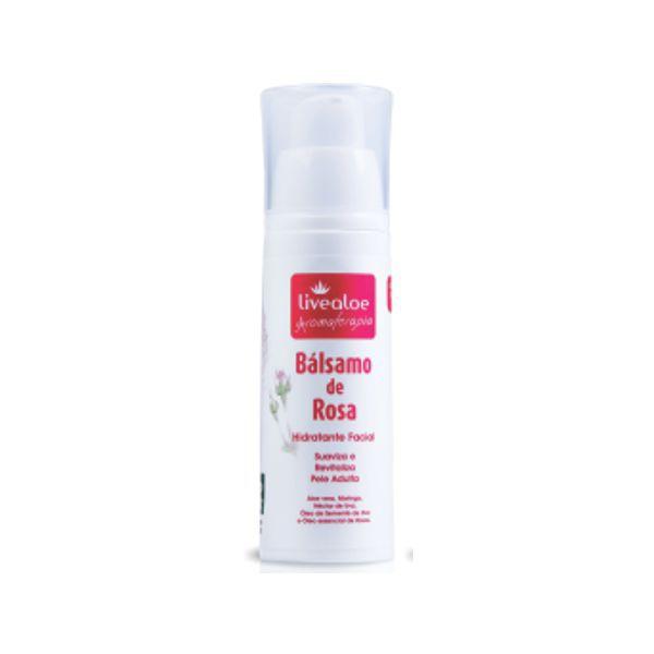 Bálsamo de Rosa Hidratante Facial Natural Livealoe - 30ml