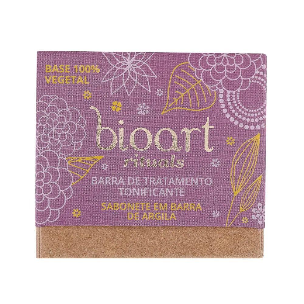 Barra de Tratamento Tonificante Bioart 100g - Argila Roxa e Lavanda