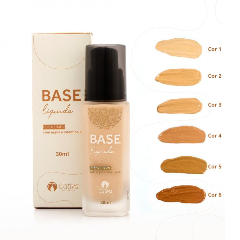 Base Líquida Matte Natural Cativa Natureza Cor 2 - 30g