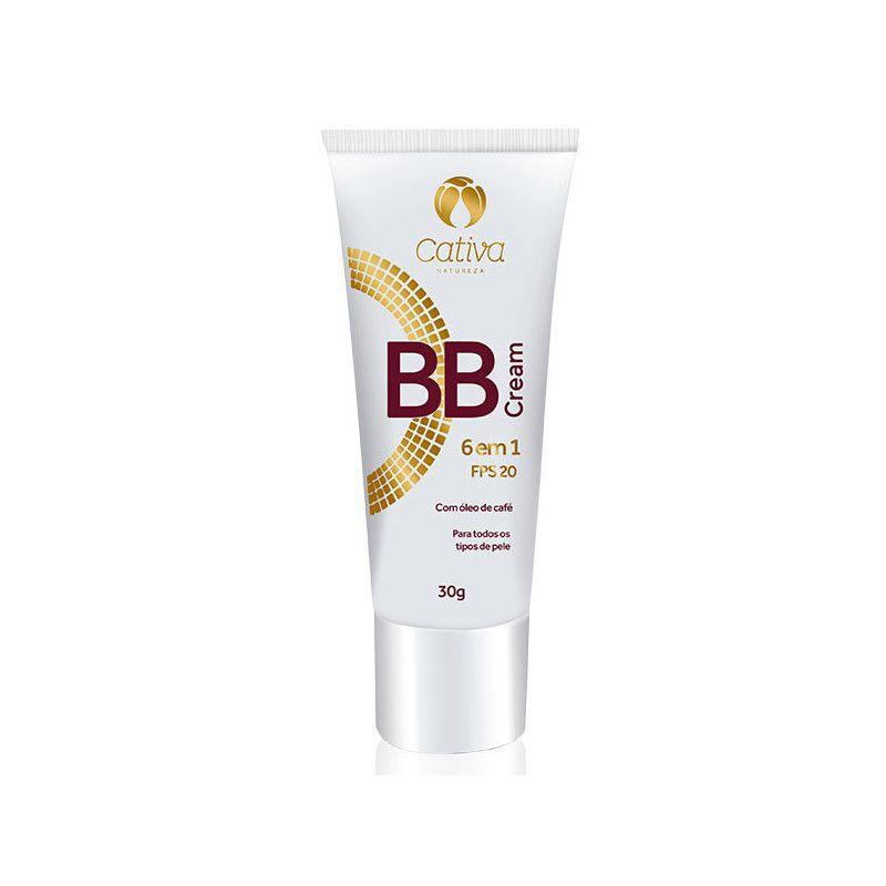 BB Cream 6 em 1 FPS 20 Cativa Natureza - 30g