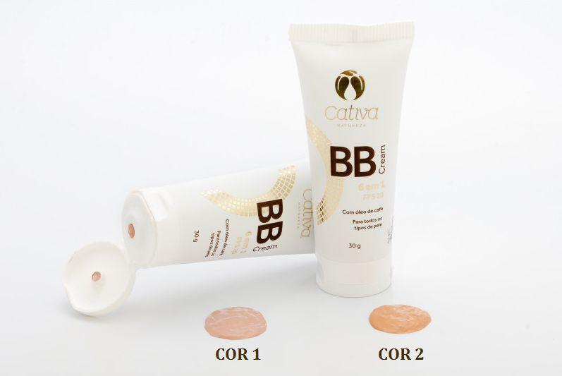 BB Cream Natural com FPS 20 Cativa Natureza - 30g