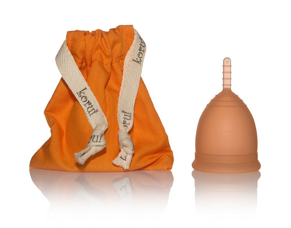 Coletor Menstrual Korui - Pôr do Sol (laranja)