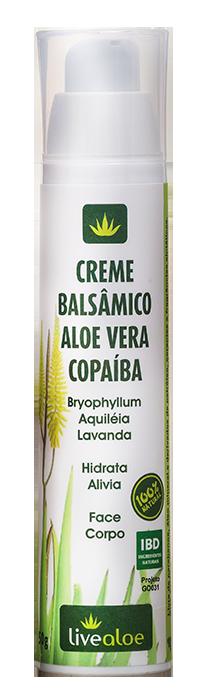 Creme Balsâmico Aloe Vera e Copaíba Livealoe - 50g