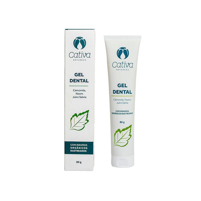 Creme Dental Natural Camomila, Neem, Juá e Salvia Cativa Natureza - 80g
