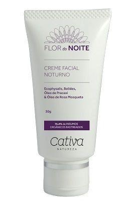 Creme Facial Noturno Natural Vegano Orgânico Cativa Natureza Flor da Noite - 30g