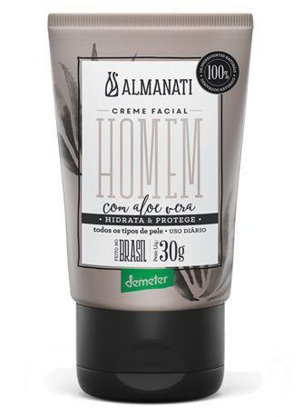 Creme Hidratante Facial Natural com Aloe Vera Homem Almanati - 30g