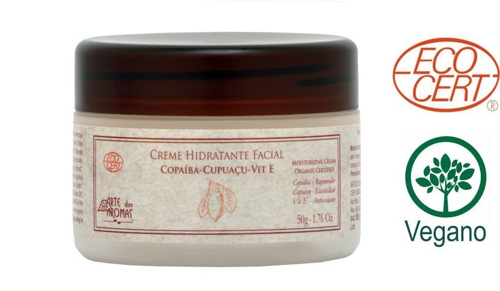 Creme Hidratante Facial Orgânico Copaíba, Cupuaçu e Tea Tree Arte dos Aromas - 50g