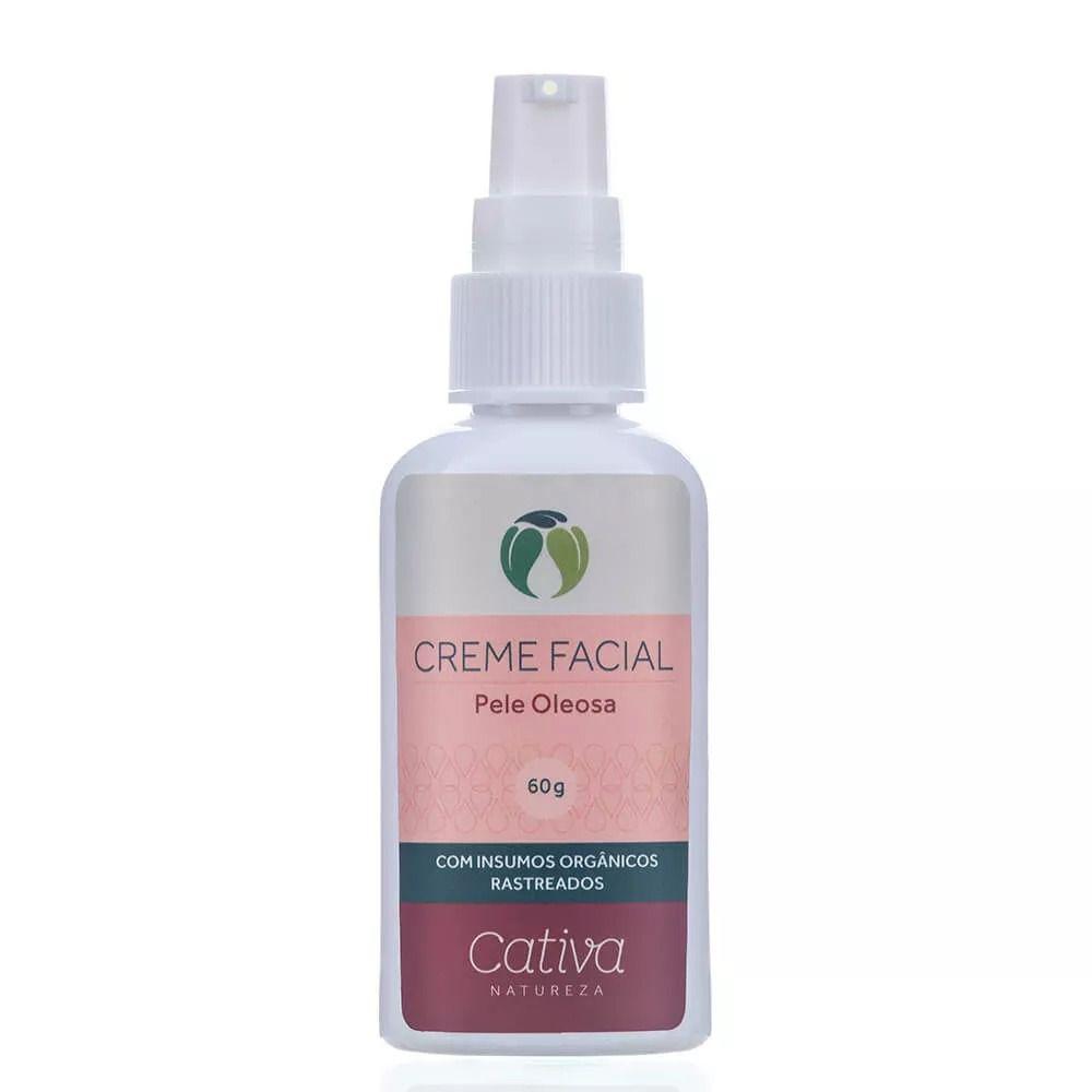 Creme Hidratante Facial Pele Oleosa Cativa Natureza - 60g