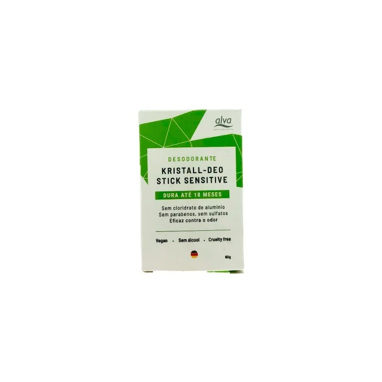 Desodorante Natural Pedra Alva Kristall Sensitive 90g - Refil