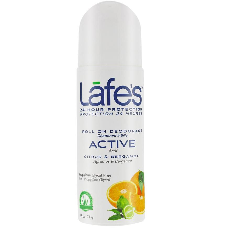 Desodorante Natural Roll On Active Citrus e Bergamota Lafe´s - 73ml