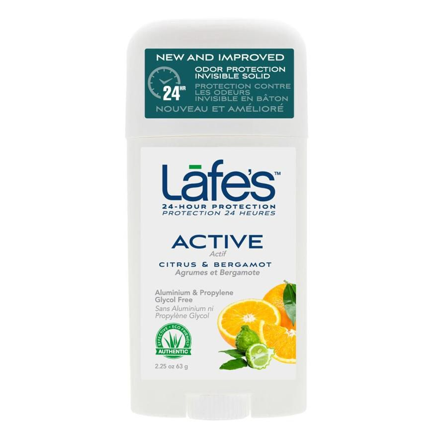 Desodorante Natural Twist Active Citrus e Bergamota Lafe´s - 63g