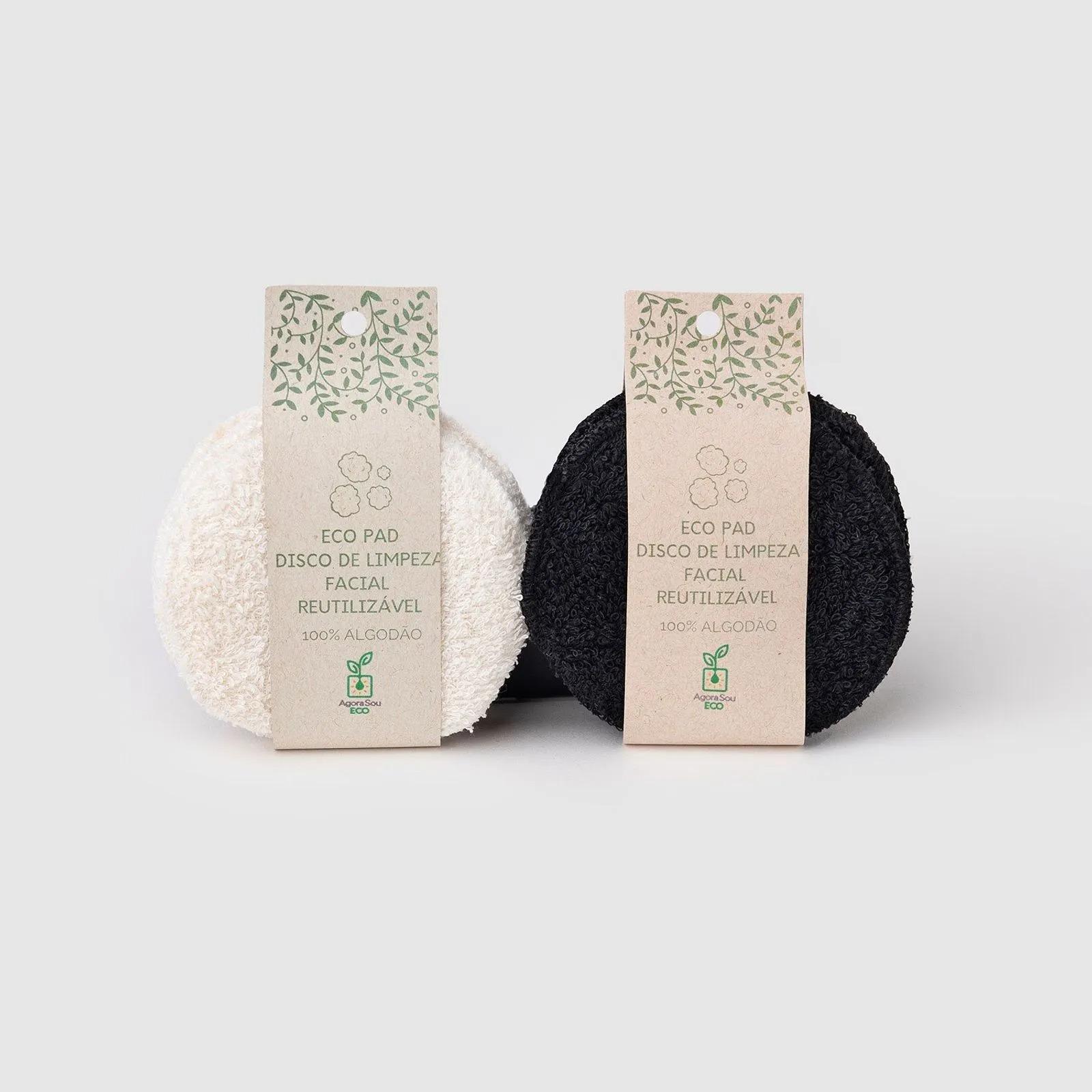 Eco Pads  Discos de Algodão Reutilizáveis para Limpeza Facial Agora Sou Eco