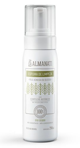 Espuma de Limpeza Natural Pele Acneica ou Oleosa Almanati - 200ml