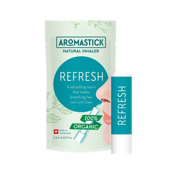 Inalador Nasal Natural de Óleos Essenciais Refresh Aromastick - Refrescante