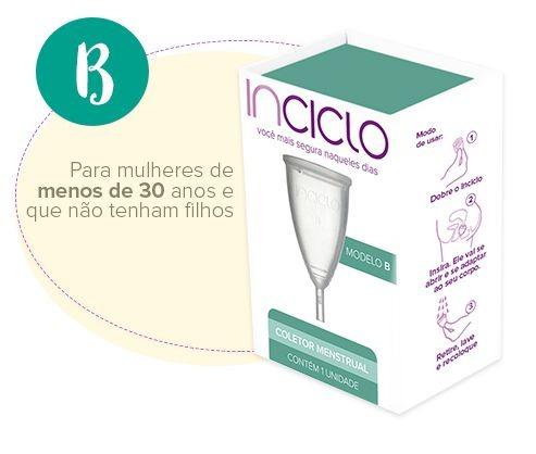 Inciclo Coletor Menstrual B + Copo Esterilizador
