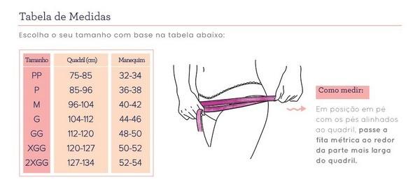 Kit 2 calcinha menstrual absorvente bela gil korui - Rosa/preta
