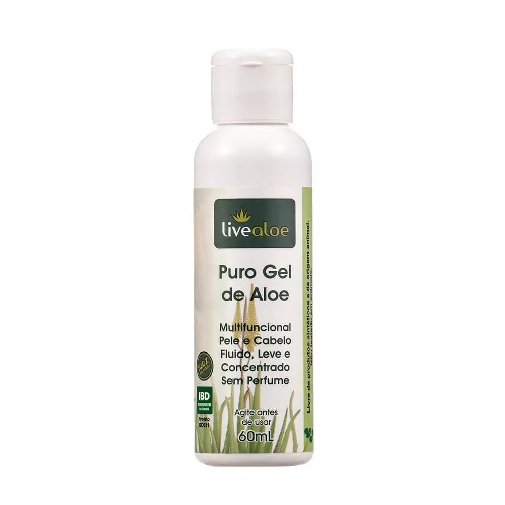 Kit 2 Puro Gel de Aloe Vera Natural 210ml e 1 mini 60ml - Livealoe