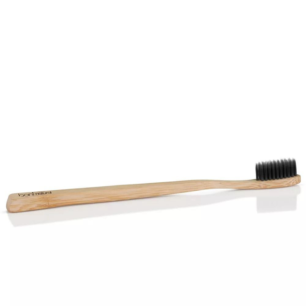 Kit 4 Escova Dental Cabo de Bambu e Cerdas de Carvão Vegetal Boni Natural