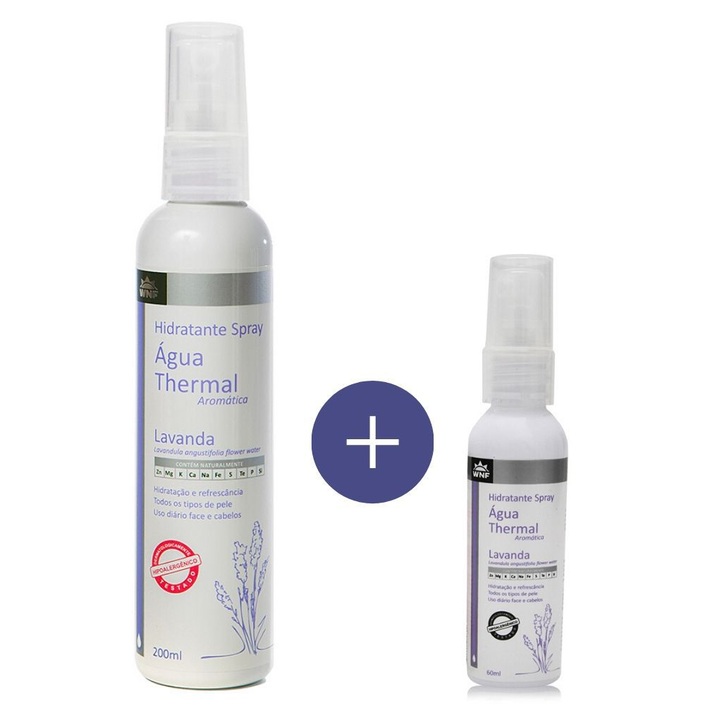 KIT ÁGUA THERMAL LAVANDA 200ML E 60ML - WNF