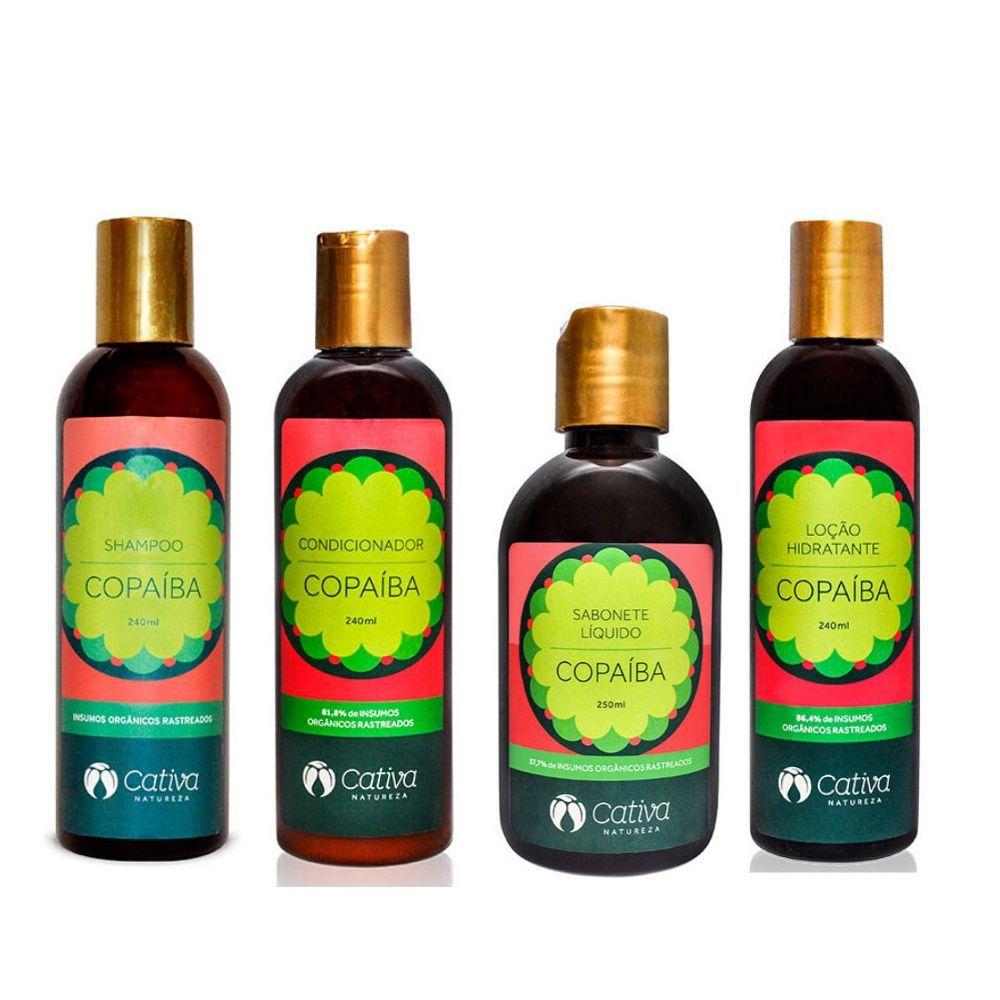KIT CUIDADO INTENSIVO - Kit Copaíba Cativa Natureza - pele e cabelos sensíveis