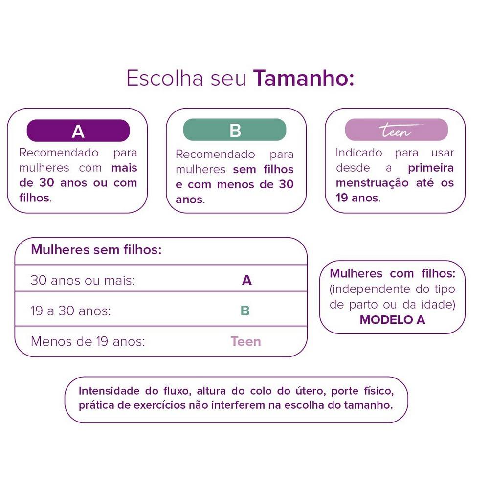 Kit Inciclo Coletor Menstrual Teen + Copo Esterilizador