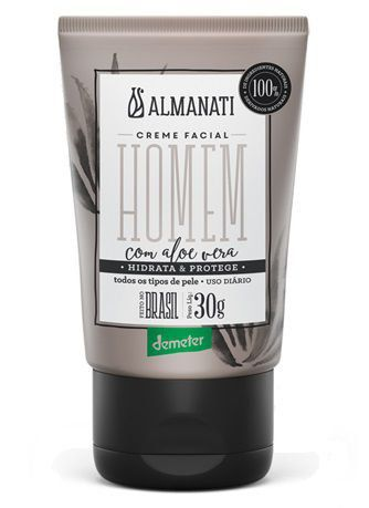 Kit Homem 100% Natural Almanati - Creme facial, Shampoo e Tônico Capilar