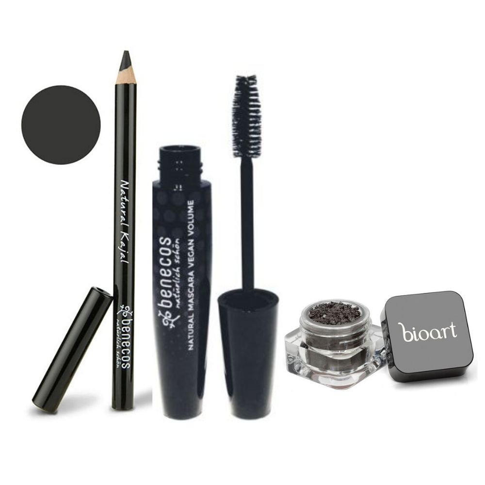 KIT OLHAR CONQUISTA - Kit Maquiagem Natural - lápis kajal preto, rímel e sombra