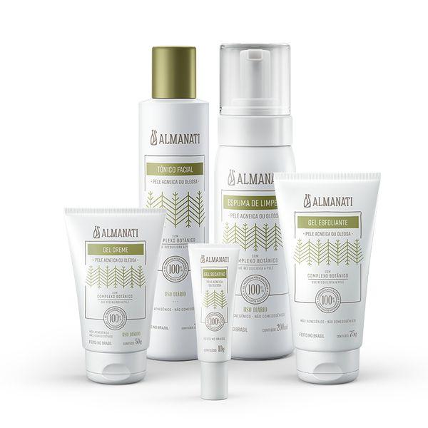 KIT REEQUILÍBRIO - Tratamento Facial Pele Oleosa e Acneica Almanati