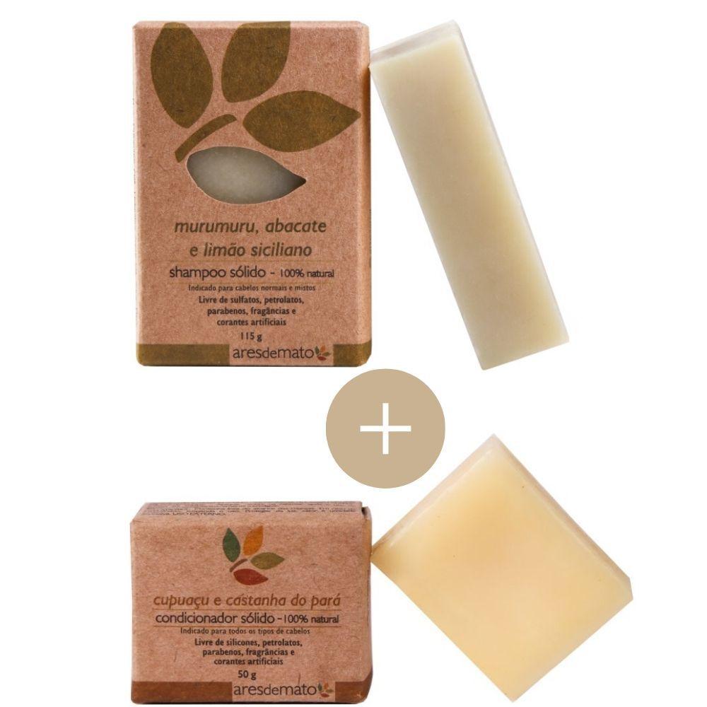 Kit Shampoo e Condicionador Sólido Ares de Mato