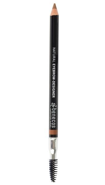 Lápis de Sobrancelha Vegano Natural Benecos 1g - Marrom Claro (Gentle Brown)