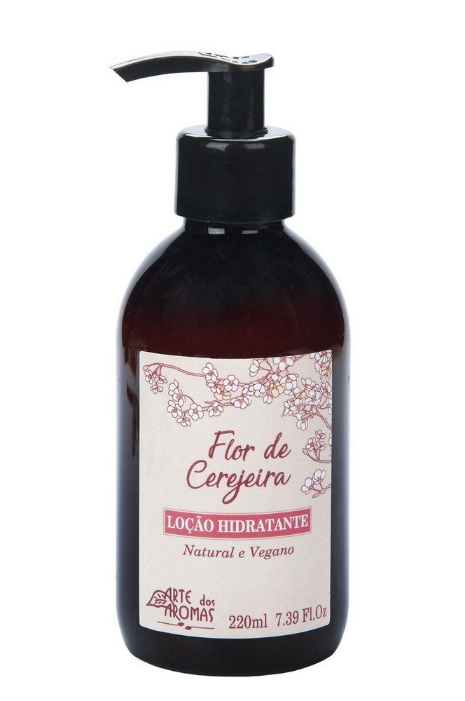 Loção Hidratante Natural Flor de Cerejeira Arte dos Aromas - 220ml