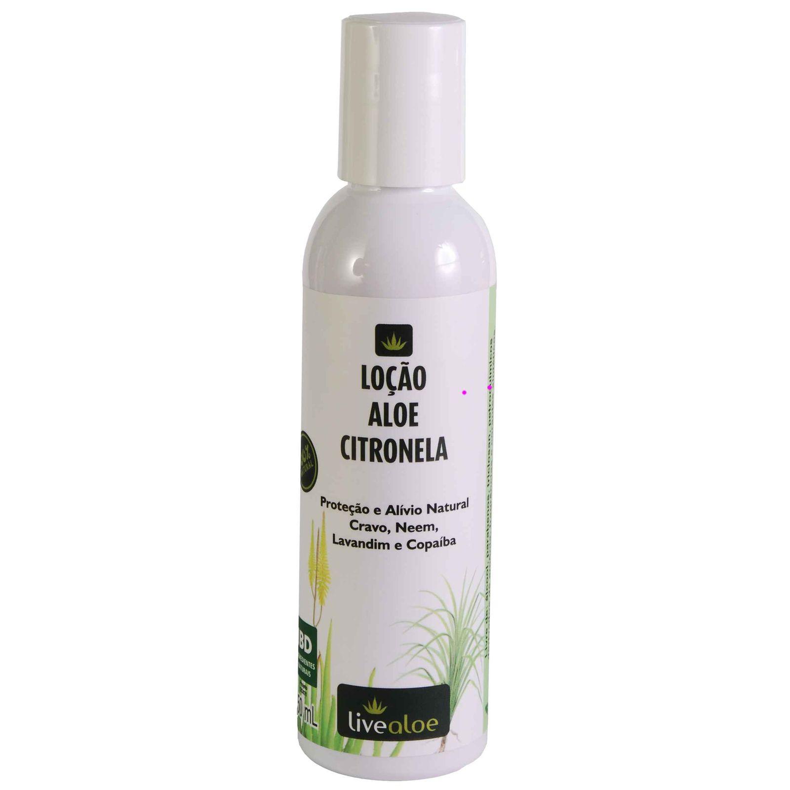Loção Hidratante Repelente Aloe Citronela Livealoe - 150ml